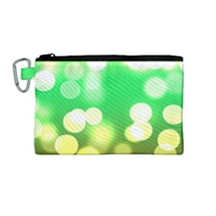 Soft Lights Bokeh 3 Canvas Cosmetic Bag (Medium)