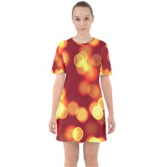 Soft Lights Bokeh 4 Sixties Short Sleeve Mini Dress
