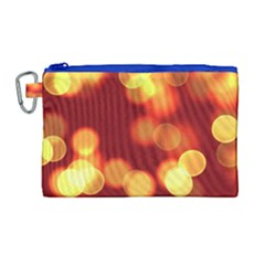 Soft Lights Bokeh 4 Canvas Cosmetic Bag (large)