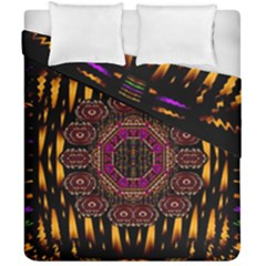A Flaming Star Is Born On The  Metal Sky Duvet Cover Double Side (california King Size) by pepitasart