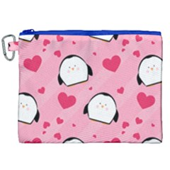 Penguin Love Pattern Canvas Cosmetic Bag (xxl) by allthingseveryday