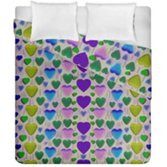 Love In Eternity Is Sweet As Candy Pop Art Duvet Cover Double Side (california King Size) by pepitasart