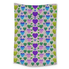 Love In Eternity Is Sweet As Candy Pop Art Large Tapestry by pepitasart