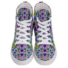 Love In Eternity Is Sweet As Candy Pop Art Men s Hi Top Skate Sneakers