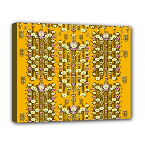 Rain Showers In The Rain Forest Of Bloom And Decorative Liana Deluxe Canvas 20  X 16   by pepitasart