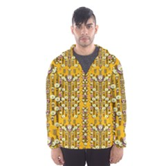 Rain Showers In The Rain Forest Of Bloom And Decorative Liana Hooded Wind Breaker (men) by pepitasart