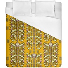 Rain Showers In The Rain Forest Of Bloom And Decorative Liana Duvet Cover (california King Size) by pepitasart