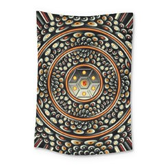 Dark Metal And Jewels Small Tapestry by linceazul