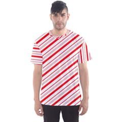 Candy Cane Stripes Men s Sports Mesh Tee