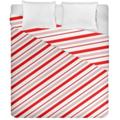 Candy Cane Stripes Duvet Cover Double Side (california King Size)