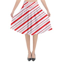 Candy Cane Stripes Flared Midi Skirt