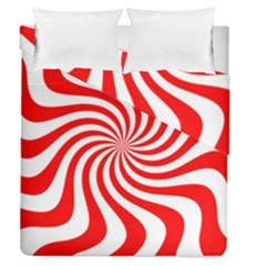 Peppermint Candy Duvet Cover Double Side (queen Size)