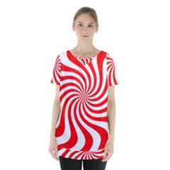 Peppermint Candy Skirt Hem Sports Top by jumpercat