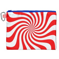 Peppermint Candy Canvas Cosmetic Bag (xxl) by jumpercat
