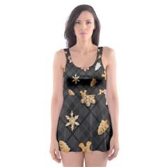 Gingerbread Dark Skater Dress Swimsuit by jumpercat