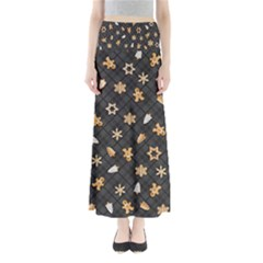 Gingerbread Dark Full Length Maxi Skirt