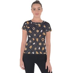 Gingerbread Dark Short Sleeve Sports Top