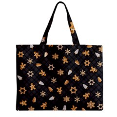 Gingerbread Dark Medium Tote Bag by jumpercat
