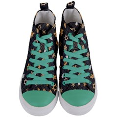 Gingerbread Dark Women s Mid Top Canvas Sneakers