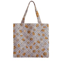 Gingerbread Light Zipper Grocery Tote Bag by jumpercat
