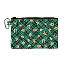 Gingerbread Green Canvas Cosmetic Bag (medium) by jumpercat