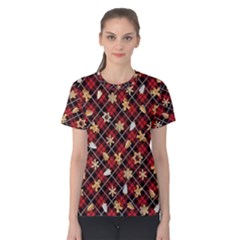 Gingerbread Red Women s Cotton Tee
