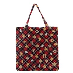 Gingerbread Red Grocery Tote Bag by jumpercat