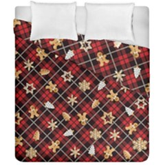 Gingerbread Red Duvet Cover Double Side (california King Size)