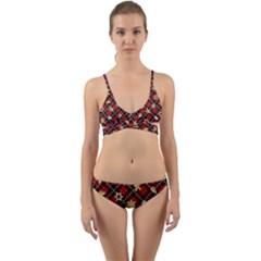 Gingerbread Red Wrap Around Bikini Set