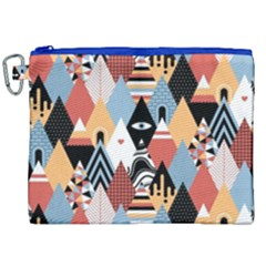 Abstract Diamond Pattern Canvas Cosmetic Bag (xxl) by allthingseveryday