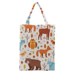 Woodland Friends Pattern Classic Tote Bag by allthingseveryday