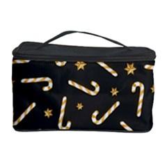 Golden Candycane Dark Cosmetic Storage Case