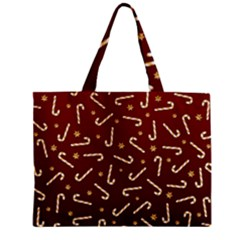 Golden Candycane Red Zipper Mini Tote Bag by jumpercat