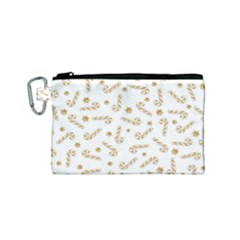 Golden Candycane Light Canvas Cosmetic Bag (small) by jumpercat