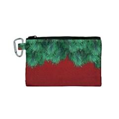 Xmas Tree Canvas Cosmetic Bag (small) by jumpercat