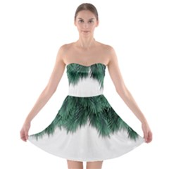 Snow And Tree Strapless Bra Top Dress
