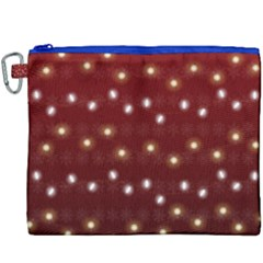 Christmas Light Red Canvas Cosmetic Bag (xxxl) by jumpercat