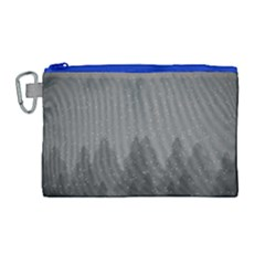 Winter Land Dark Canvas Cosmetic Bag (large)