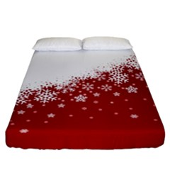 Xmas Snow 01 Fitted Sheet (california King Size)