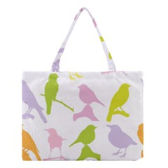 Birds Colourful Background Medium Tote Bag by Celenk