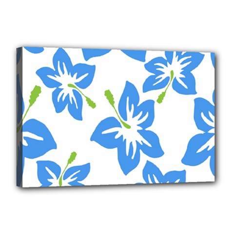 Hibiscus Wallpaper Flowers Floral Canvas 18  X 12  by Celenk