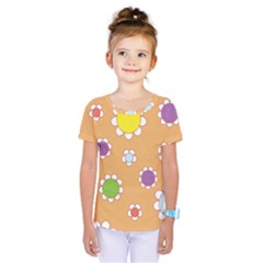 Floral Flowers Retro 1960s 60s Kids  One Piece Tee