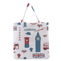 London Icons Symbols Landmark Grocery Tote Bag by Celenk