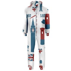 London Icons Symbols Landmark Hooded Jumpsuit (men)