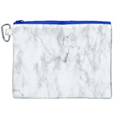 White Background Pattern Tile Canvas Cosmetic Bag (xxl)