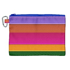 Stripes Striped Design Pattern Canvas Cosmetic Bag (xl) by Celenk