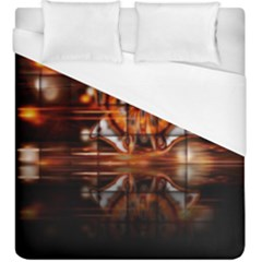 Butterfly Brown Puzzle Background Duvet Cover (king Size) by Celenk
