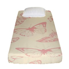 Butterfly Butterflies Vintage Fitted Sheet (single Size) by Celenk