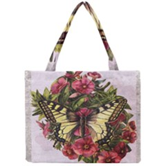 Vintage Butterfly Flower Mini Tote Bag by Celenk