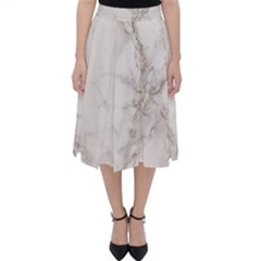 Marble Background Backdrop Folding Skater Skirt